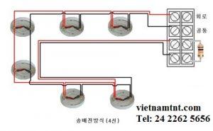 Sơ đồ lắp đặt đi dây hệ thống báo cháy hàn quốc leaders-tech
