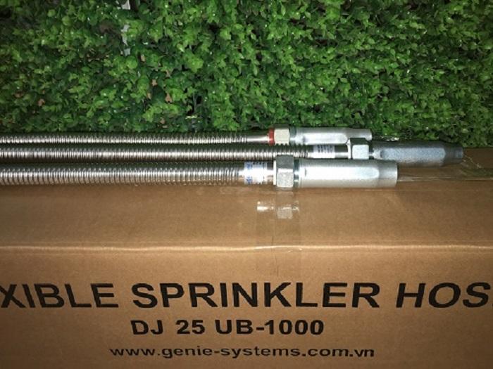 Ống mềm inox nối Sprinkler có vỏ bện Inox chứng chỉ FM và UL áp lực 175psi hãng Daejin