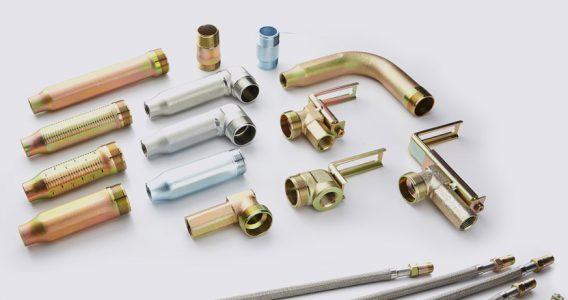 Ống mềm dài 1800mm hoặc 1500mm dành nối đầu phun chữa cháy - loại không vỏ bện đạt áp lực 14bar
