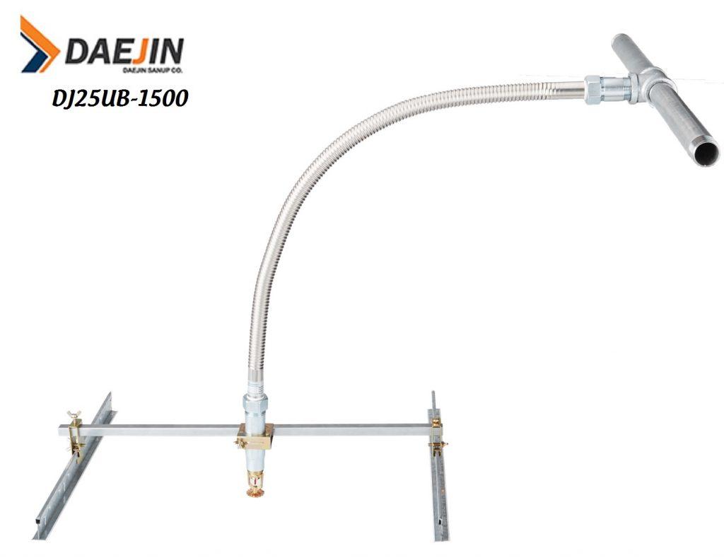 Ống mềm dành cho sprinkler có kiểm định PCCC dài 1500mm áp lực 14bar hàng daejin sản xuất việt nam